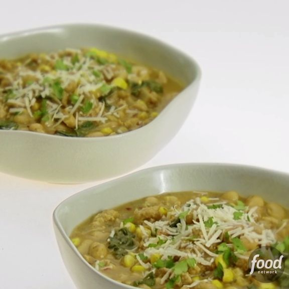 Giada adds a fiery kick to a hearty White Bean and Chicken Chili - perfect for crisp fall nights.