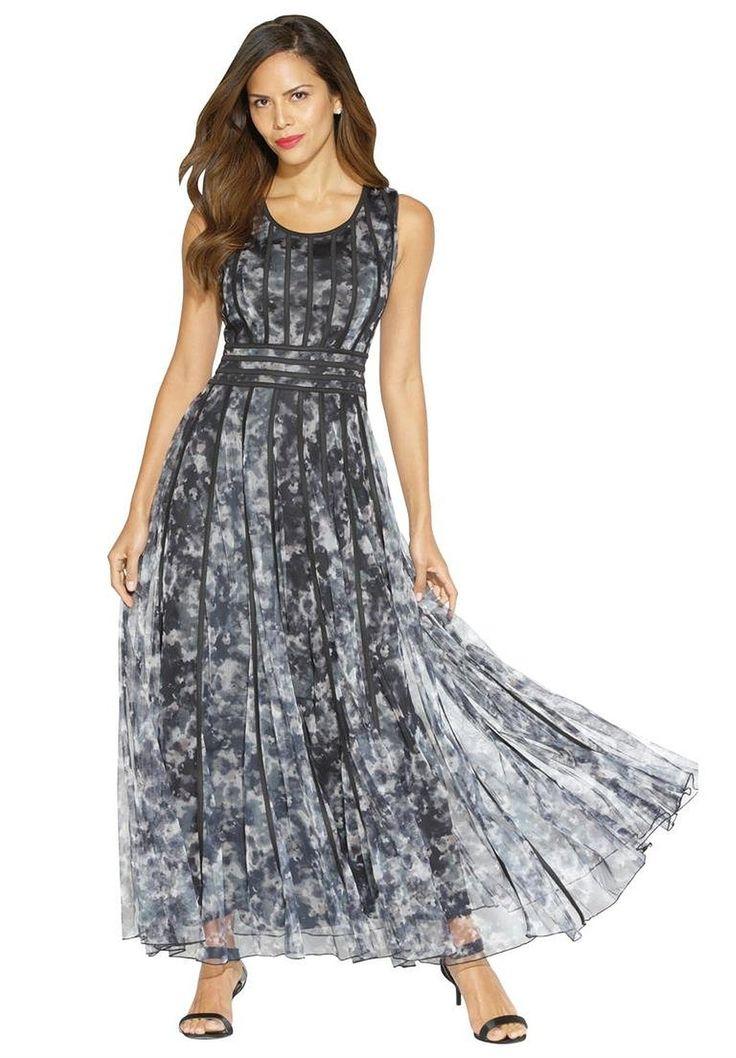 Roamans Women's Plus Size Mesh Dress at Amazon Women's Clothing store: