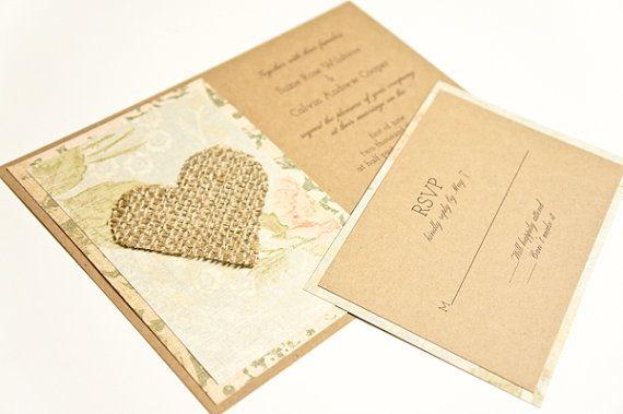Wedding Invitation Shabby Chic and Vintage by EastCoastBrideMA