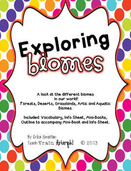 Exploring Biomes Pack {vocab, mini-book and outline}
