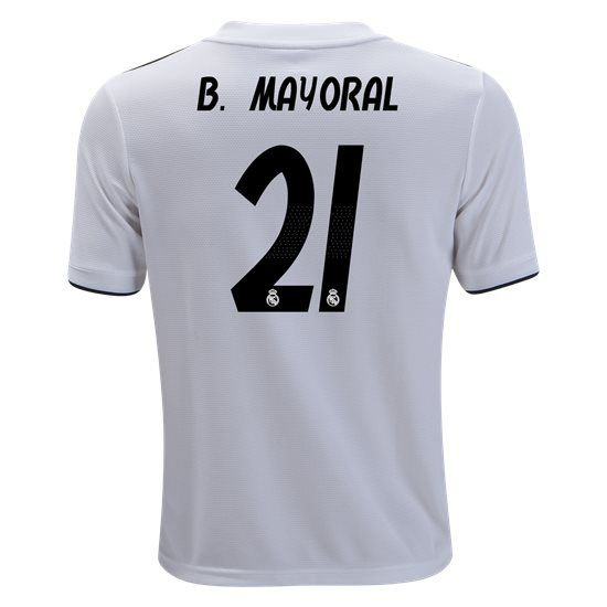 820653614 18 19 Borja Mayoral Jersey Number 21 Home Youth Real Madrid Team ...