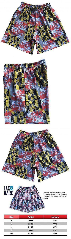 Clothing 159152: Lax So Hard Mens Maryland Flag Lacrosse Shorts, Large BUY IT NOW ONLY: $46.31