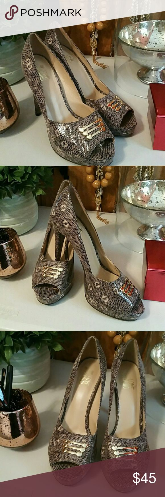 ANIMAL PRINT HIGH HEELS Very good condition moschino Shoes Heels