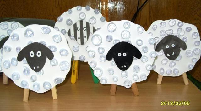 schapen knutselen met kleuters