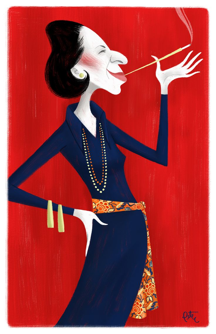 Diana Vreeland, noted columnist and fashion editor