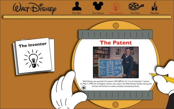 Walt Disney Interactive Website by Alex Hines, via Behance