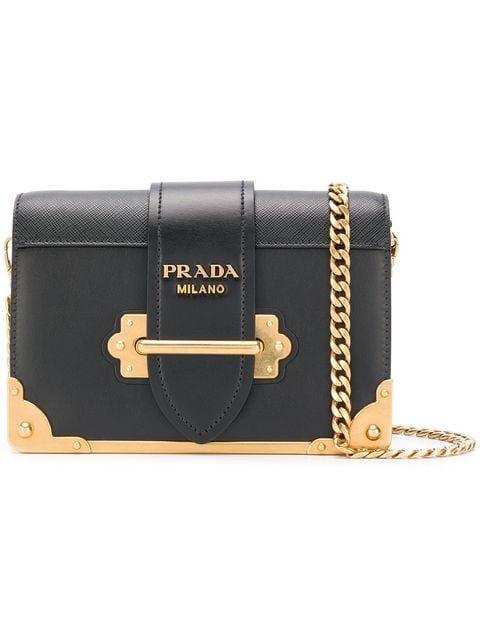 041bb5060 Compre Prada Bolsa tiracolo 'Cahier' de couro   Fashion is the new Black    Shoulder Bag, Bags, Prada