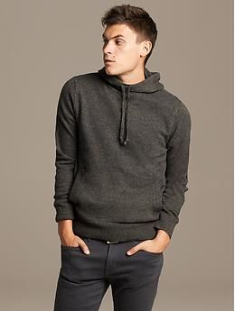 Marled Hooded Pullover