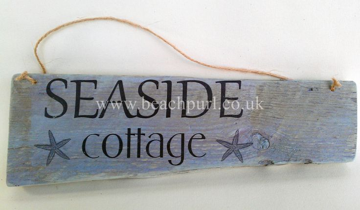 Seaside Cottage Driftwood Sign by JayBird Art  #Sea #Quotes #Coastal #Word #Phrases #Boat #Beach #Home #Decor #Nautical #Recycled #Salvaged #Wooden #Signs #UK #Pallet