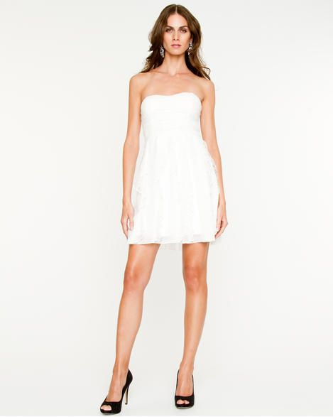 Lace and Chiffon Cocktail Dress