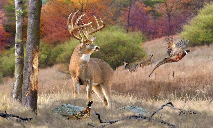Wildlife art whitetail deer painting hunting monster