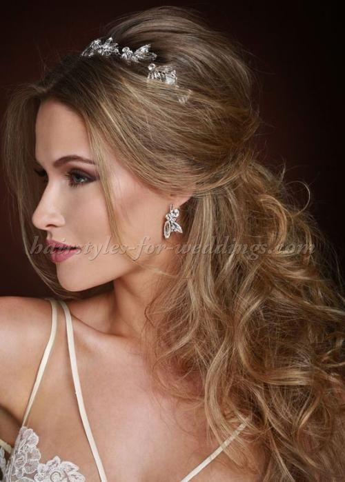 half up wedding hairstyles - half up wedding hairstyle with headband