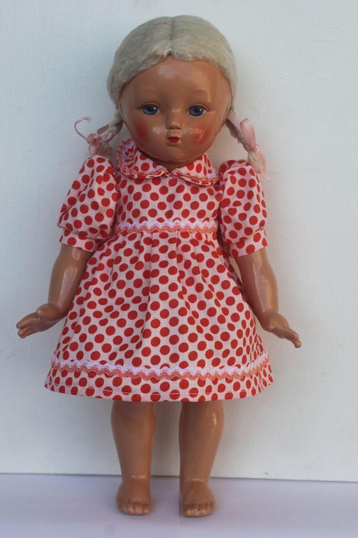 Кукла Ариша СССР, прессованные опилки, 30 см.