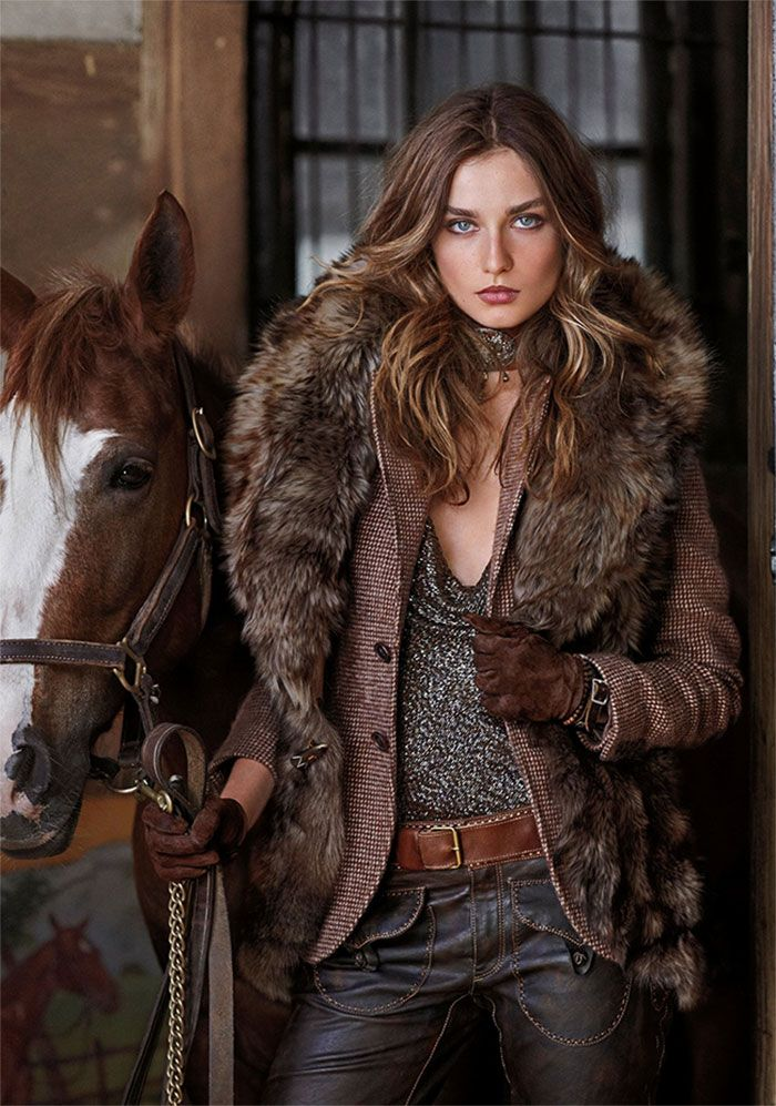 ralphlauren:   Blue Label Fall 2012  Iconic aviator style inspires this season's mix of glamorous gowns, luxe knits and rugged bomber jackets.