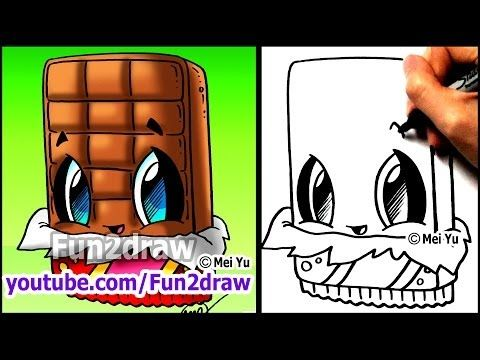 Cute Candy Apple - How to Draw Halloween Pictures - Easy Food & Desserts Best Fun2draw Kawaii - YouTube