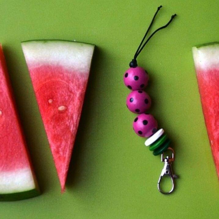 Watermelon bag tag / keyring