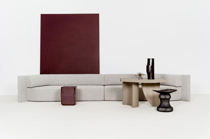 Delcourt Collection Eko Double Sofa + Teo Lounge Table + Oko Side Table - Christophe Delcourt