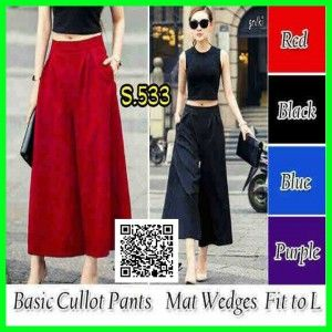 basic cullot pants wedges s533