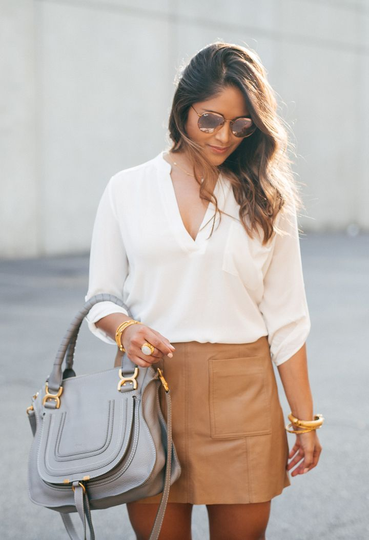 haute off the rack, HauteLook flash sale event, leather mini skirt, camel skirt,…