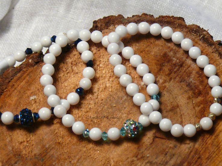 Jade blanco #jewelry #handmade #gemstones #joyeria #hechoamano #artesania #piedras