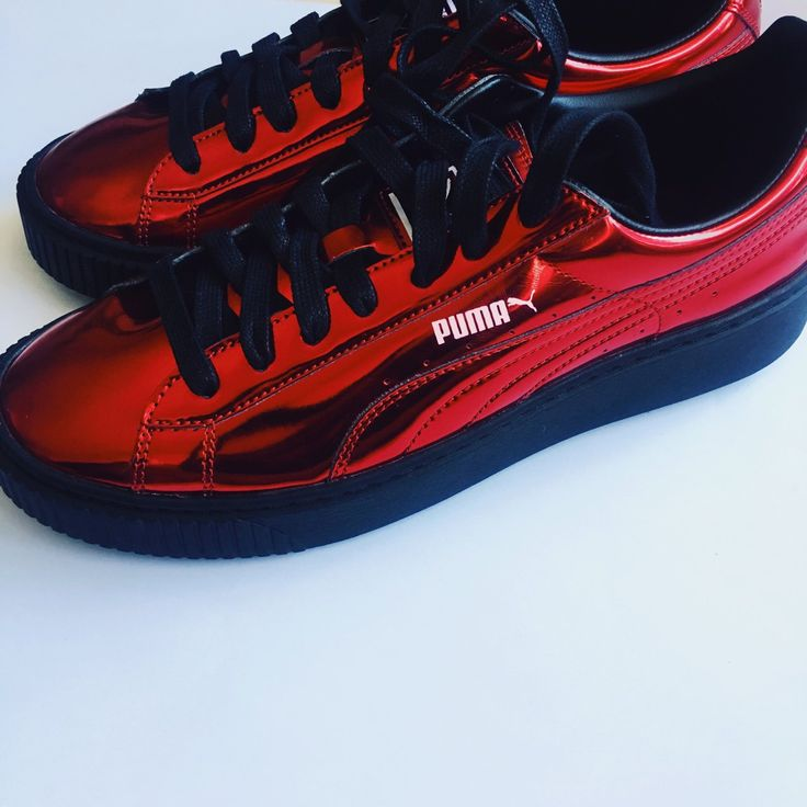 Red Puma Basket Platform Sneaker Shoes  NWOT = new without tags   You need these in your life!! Kylie Jenner rocked these sneakers. If you wanna be like Kylie.. buy these! :)  NEVER WORN  $90 or your best offer!!  SIZE 10