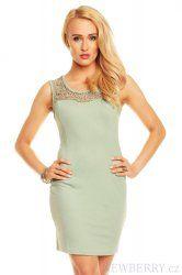 Mentolové dámské letní šaty Ethina