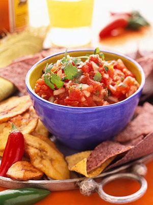 Roasted-Tomato Salsa -- jalapeno-spiked salsa!