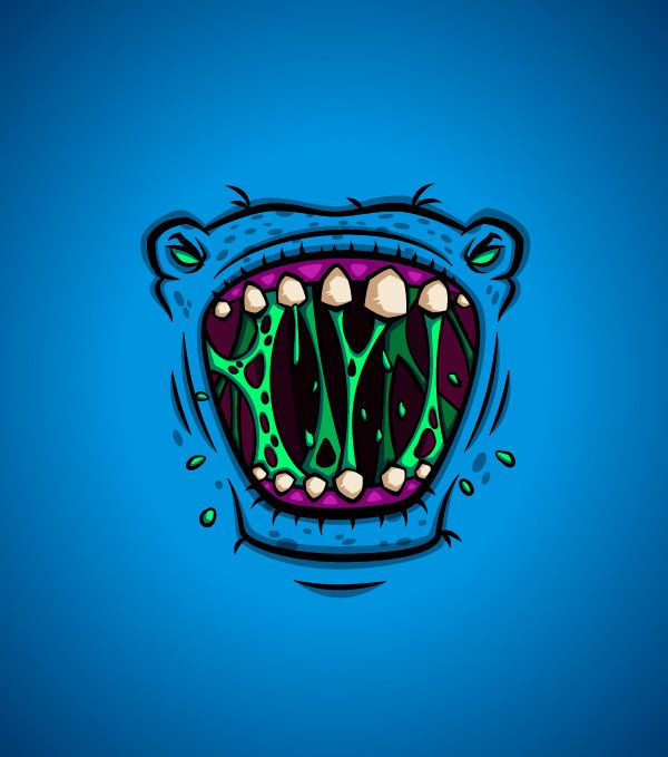 #Monster #Faces by Daniel Ferenčak, #Cartoons  #Comics, #Character, #Illustration, #Print, #T-Shirt