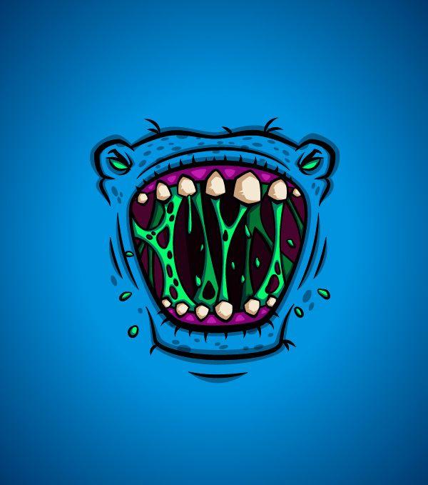 #Monster #Faces by Daniel Ferenčak, #Cartoons #Comics, #Character, #Illustration, #Print, #T-Shirt