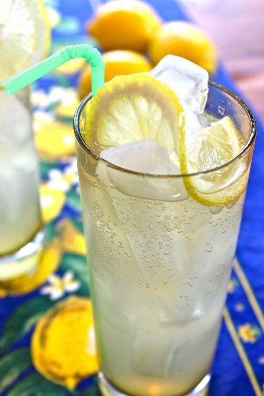 1 oz Limoncello, 1 oz gin, and 4 oz club soda. Top with ice and a lemon slice!