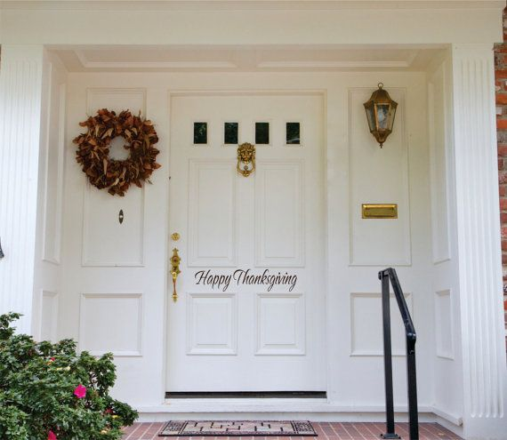 A fun way to greet guests for the holidays! Thanksgiving wall decal can be customised.