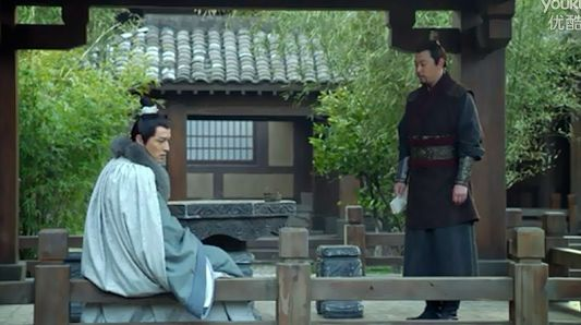 How the stone fence of a garden pond can be conveniently used ...  (A scene from Chinese TV drama Nirvana In Fire)