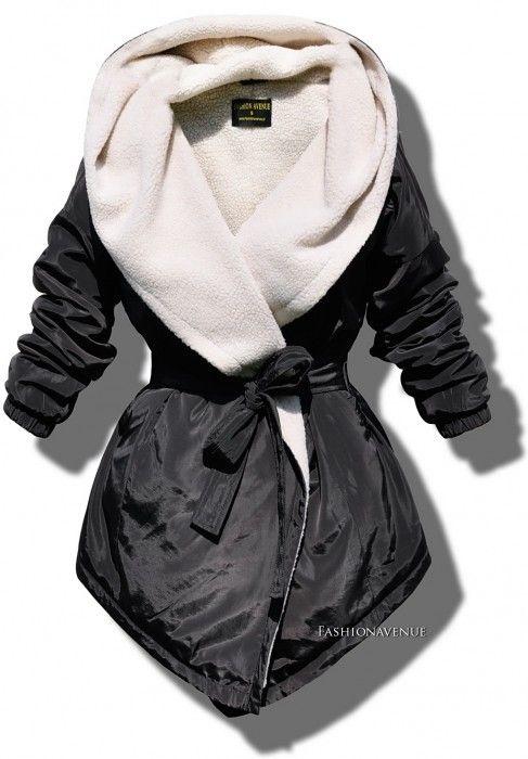 Najmodniejsza Elegancka Mięciutka Kurtka Parka Damska z Kapturem Wiązana Baranek z Dużym Kołnierzem Hit Najmowszy Model na Wiosnę Jesień Zimę 2016 / 2017 model #116 Promocja w sklepie FASHIONAVNUE