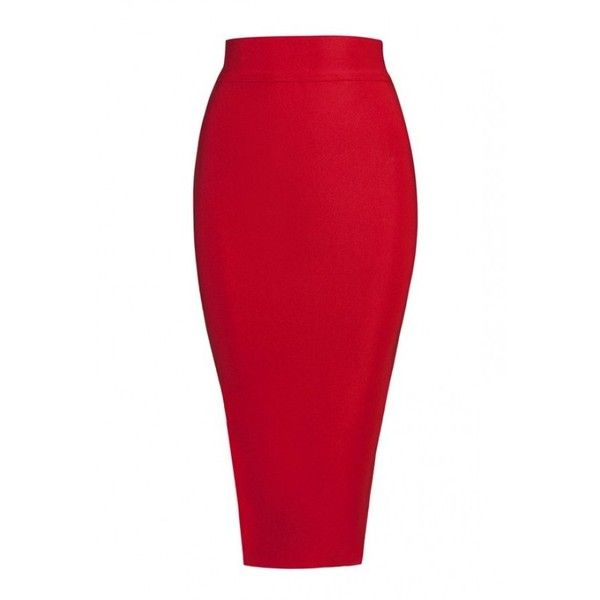 Posh Girl High Waist Pencil Bandage Skirt (315 BRL) ❤ liked on Polyvore featuring skirts, high waisted knee length skirt, sexy skirts, high-waisted skirts, bandage pencil skirt and bandage skirt