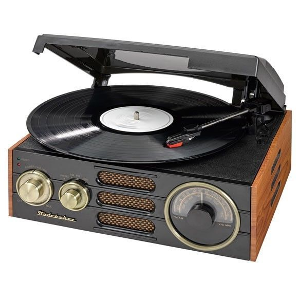 3-Speed Record Player with AM/FM Radio and PC Connectivity for MP3 Converting…