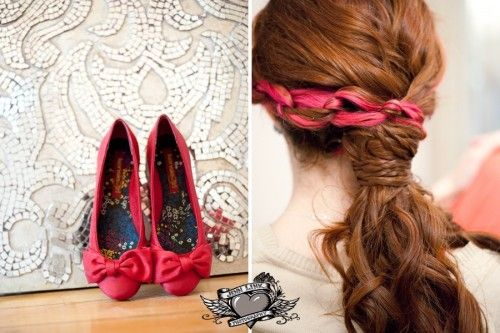Match your hair and your wedding shoes