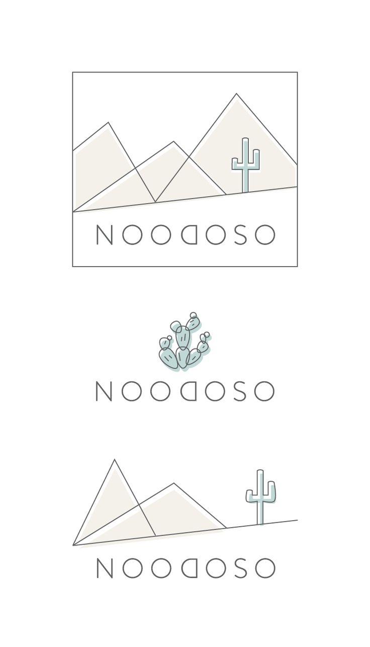 Modern desert logo concepts