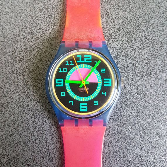 New 1990 Swatch Watch Good Shape GN704 MIB Jelly Red Band Purple Blue Face   Tags : swatch watches women, vintage swatch watches, 80's swatch watches, swatch watches silver, swatch watches 2016, mens swatch watches, swatch watches irony, swatch watches chrono, swatch watches automatic, black swatch watches, swatch watches scuba, swatch watches classic, swatch watches for men, swatch watches retro, swatch watches orange,