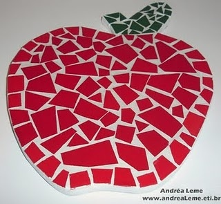Apple mosaic art