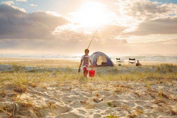 Top Camping Spot | Set up camp on Fraser Island.