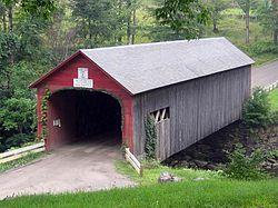 Green Riverin silta Guilfordissa Vermontissa Yhdysvalloissa.