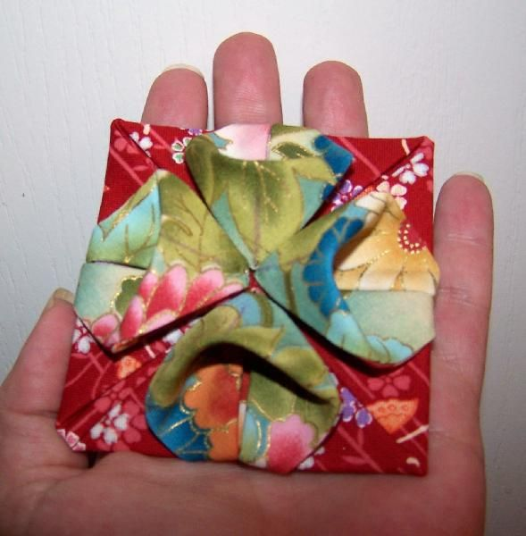 22 best origami fabric flower tutorials etc images on pinterest flower origami fabric flowers from simple shapes by kumiko sudo the link just takes mightylinksfo