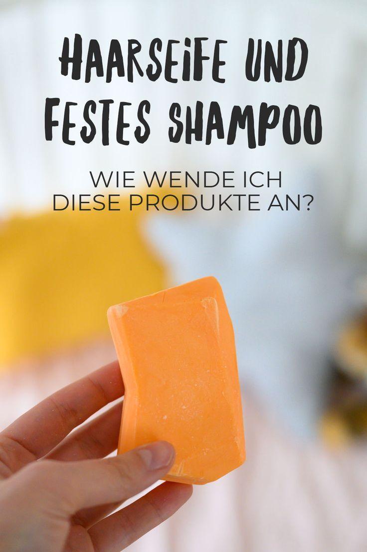 Festes Shampoo oder Haarseife und Saure Rinse
