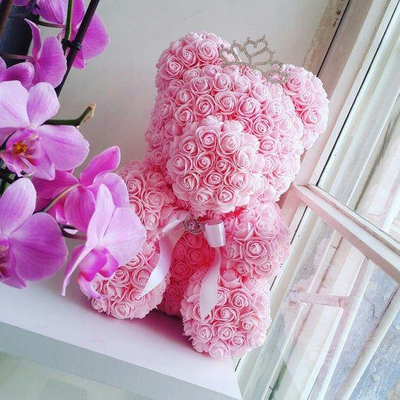 Rose Teddy Bear 15 75 Inch Forever Rose Teddy Bear Wedding Gifts Love Bear Flower Rose Bear Ros In 2020 Forever Rose Rose Wedding Gifts