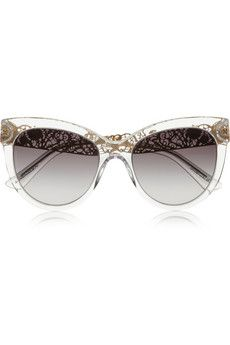 Dolce & Gabbana Cat eye acetate sunglasses | NET-A-PORTER