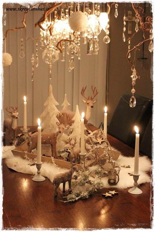 Winter Tablescape Christmas Cornucopia Pinterest Reindeer Wedding And Tables