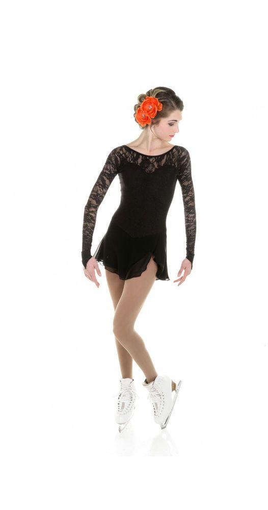 New Elite Xpression Figure Skating Dress D412-BK Made on Order | eBay