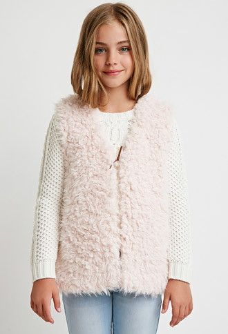 Faux Shearling Vest (Kids) | Forever 21 girls - 2000099189