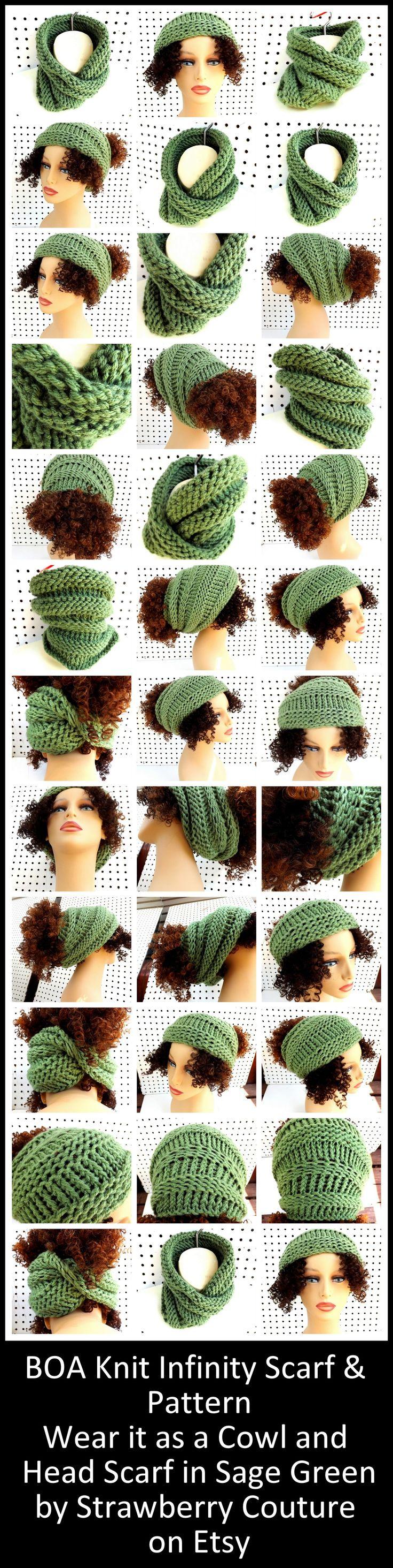1091 best Szaliki images on Pinterest | Head scarfs, Cowl and Loom knit