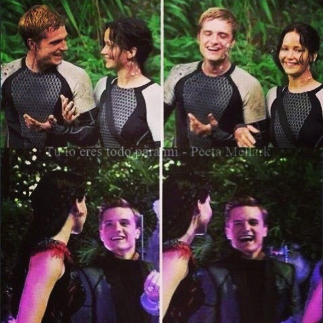 38 best behind the scenes of catching fire images on pinterest jen and josh behind the scenes of catching firejoshifer needs to happen and when it hunger games voltagebd Gallery